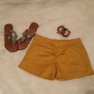 Super Adorable Mustard Pleated Shorts